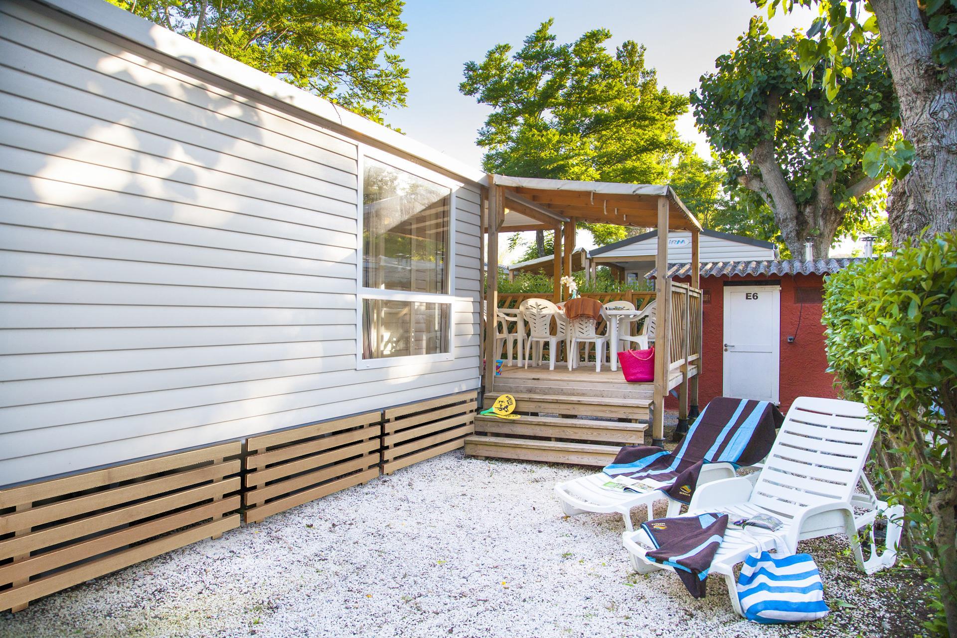 Location - Cottage Esterel 2 Chambres Climatisé *** 26M² - Camping Sandaya Riviera d'Azur