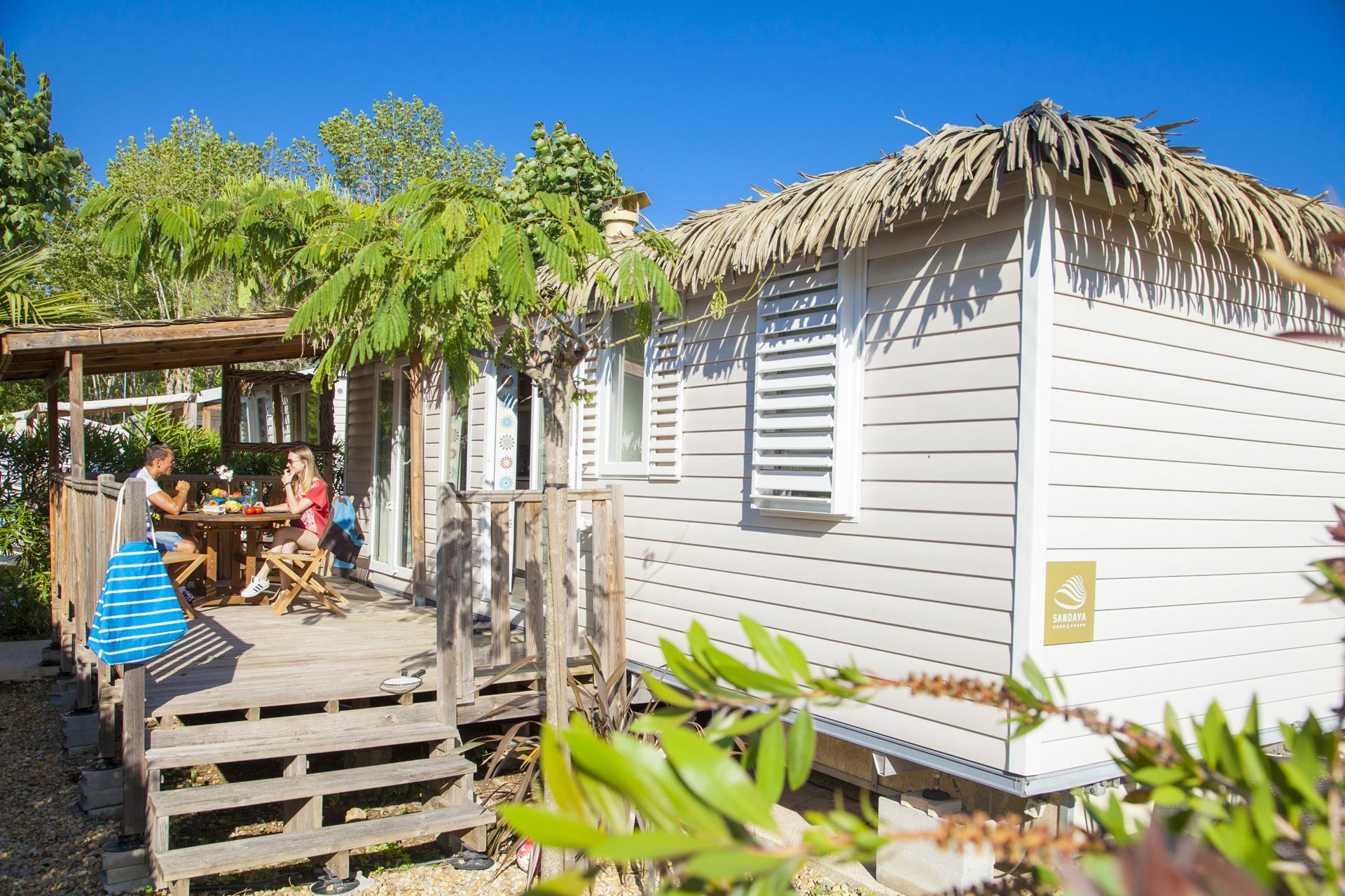 Location - Cottage Tropical 3 Chambres Climatisé Premium - Camping Sandaya Riviera d'Azur