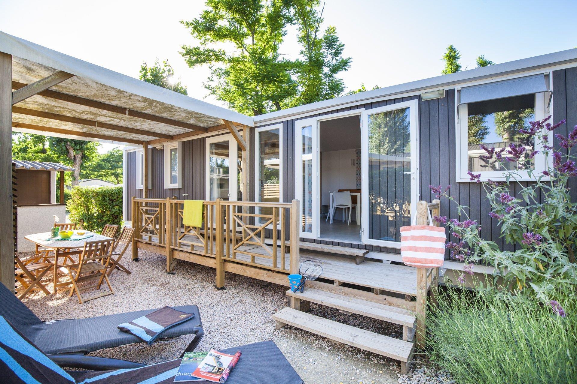 Location - Cottage Provencal 2 Chambres 2 Salles De Bain Climatisé Premium - Camping Sandaya Riviera d'Azur