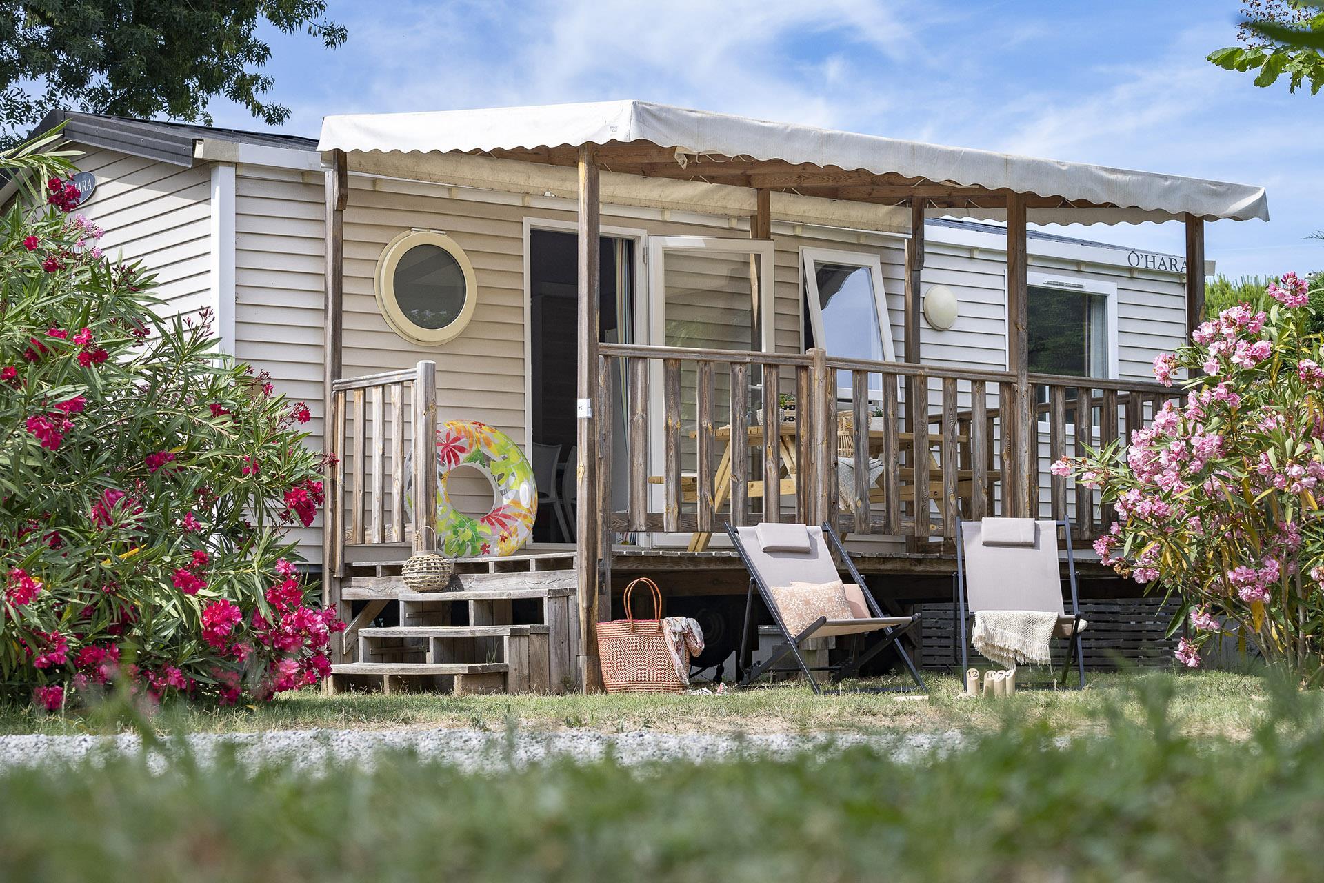 Location - Cottage 3 Chambres Climatisé**** - Camping Sandaya Riviera d'Azur