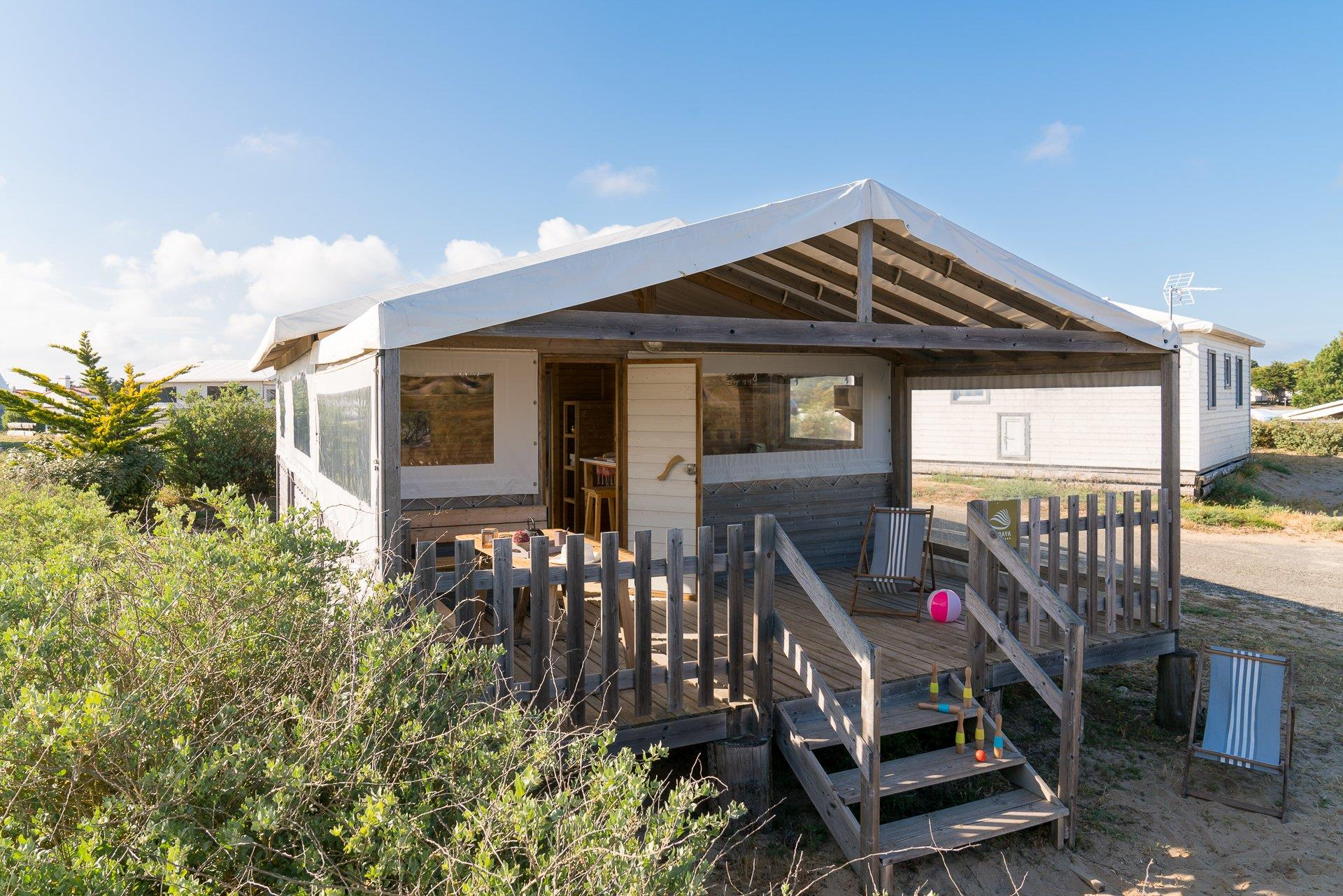 Location - Lodge Sweet Home - 2 Chambres **** - Camping Sandaya Domaine Le Midi