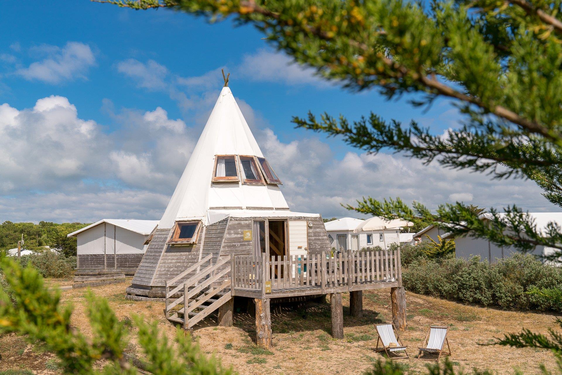 Location - Lodge Magic Tipi - 1 Chambre - Camping Sandaya Domaine Le Midi