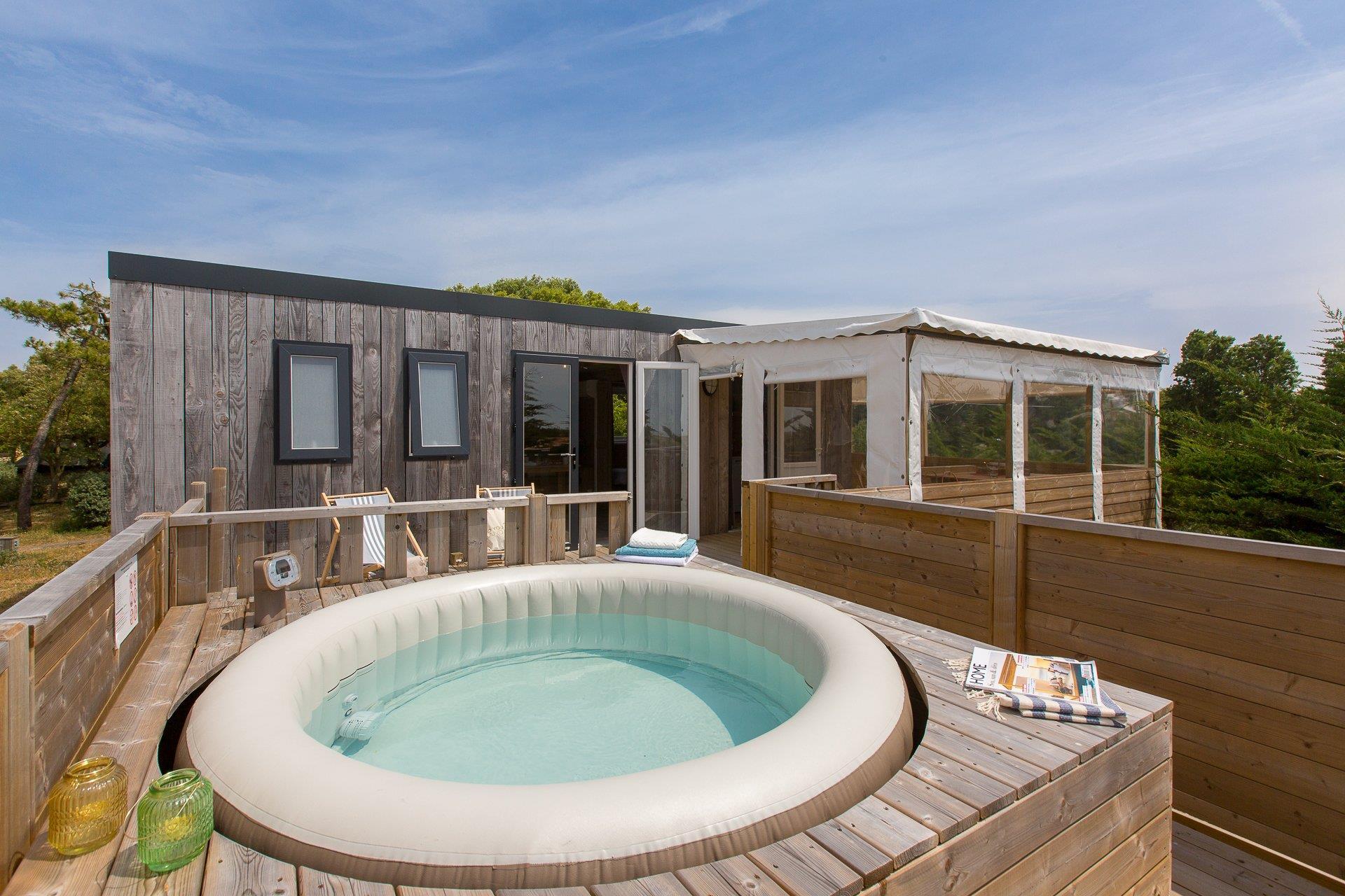 Location - Cottage - 2 Chambres Premium Spa - Camping Sandaya Domaine Le Midi