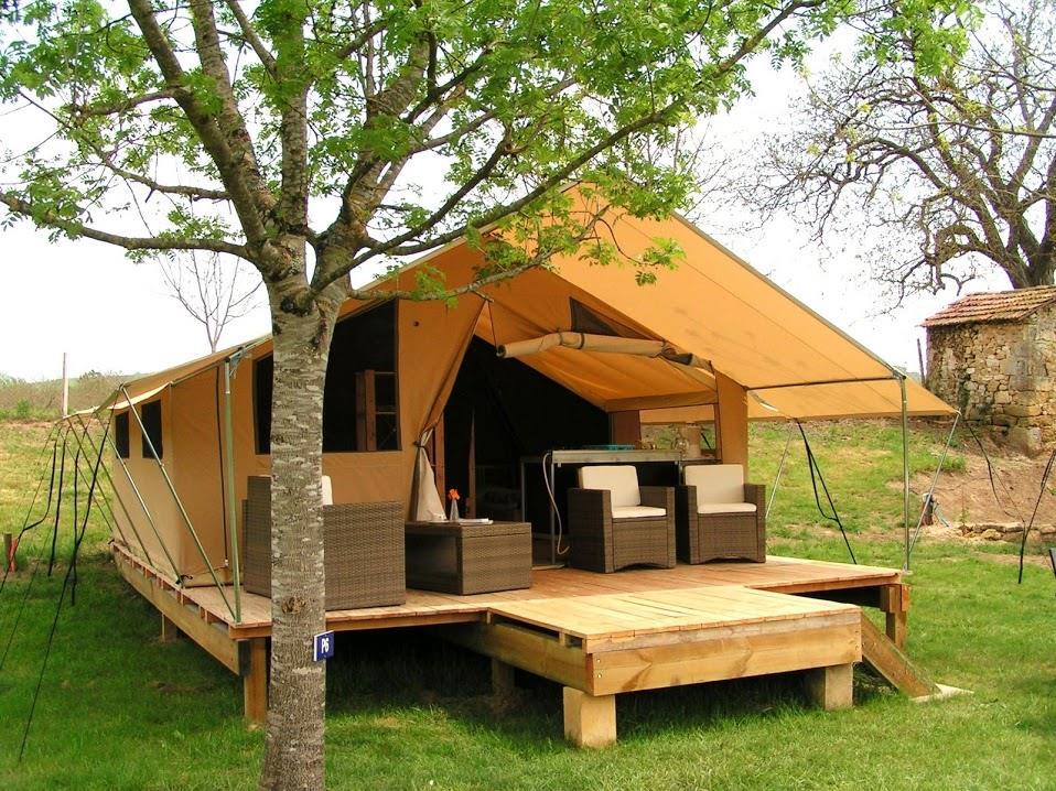 Location - Tente L'aventurière Luxe - Camping Le Capeyrou