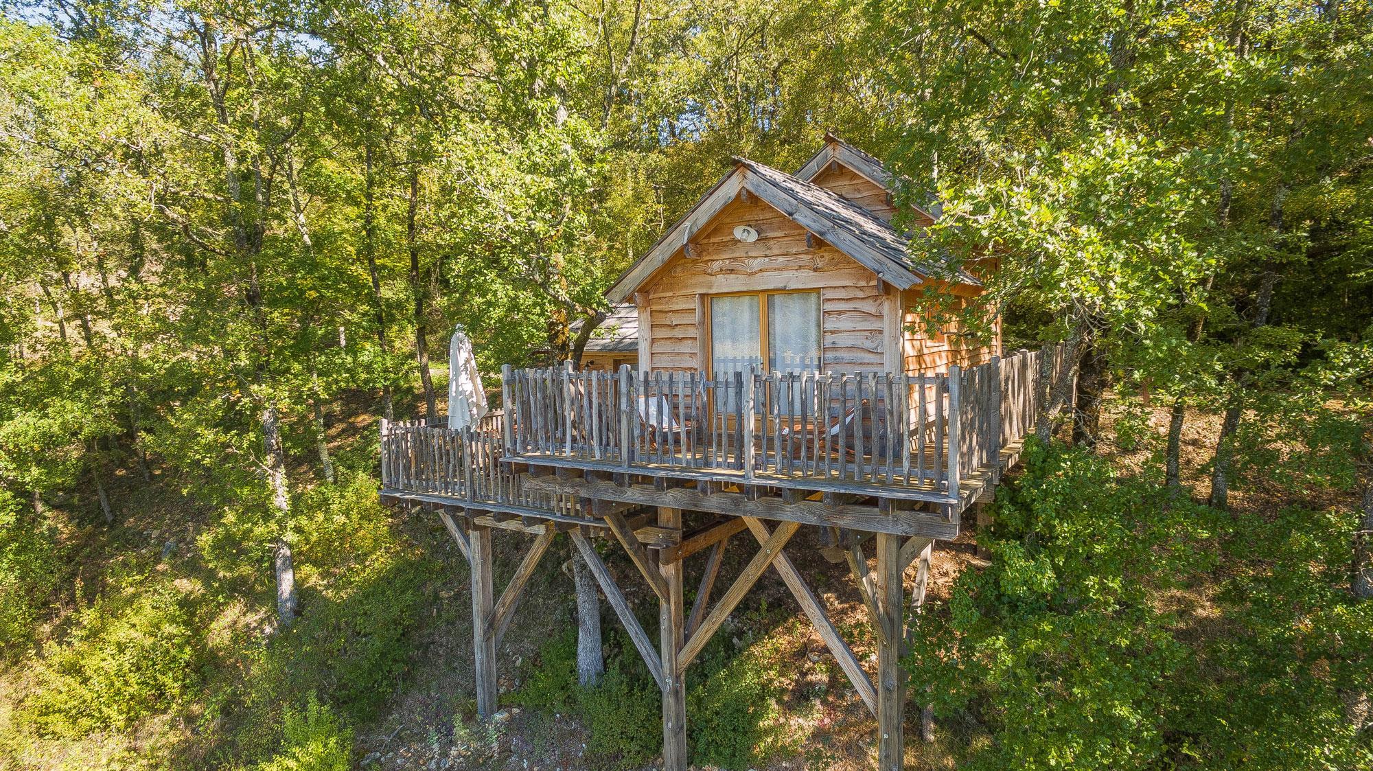 Location - Cabane Perchée - Camping Village le Moulin de Surier