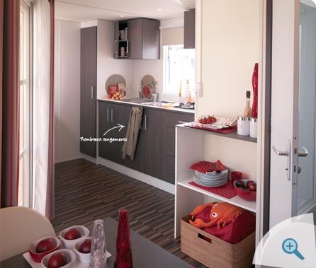 Location - Cottage Lodge Muscadelle  30M² Tv, Grand Frigo-Congélateur Et Terrasse Couverte 10 M² - Grand Emplacement - Camping Sites et Paysages Etang de Bazange