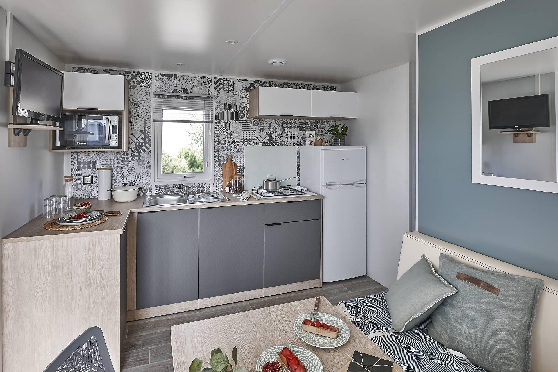 Location - Nouveauté 2020 ! Cottage Neuf Lodge Jolie Vue Étang - Tv  Climatisation, Terrasse Couverte - Camping Sites et Paysages Etang de Bazange