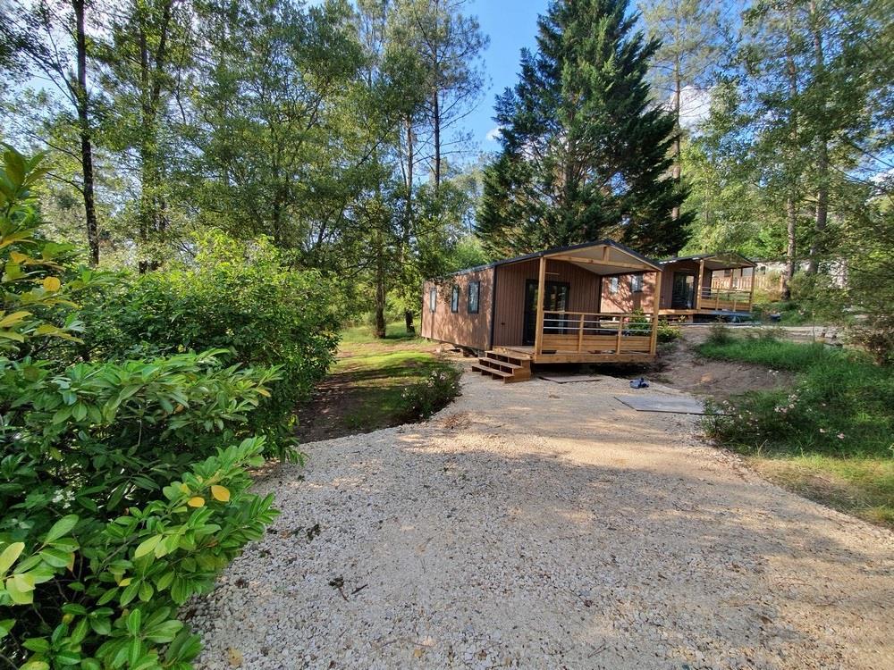 Location - Nouveauté 2020 ! Cottage Neuf Panoramique Vue Forêt - Tv Climatisation - Emplacement 250 M² - Camping Sites et Paysages Etang de Bazange