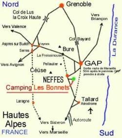 Camping les Bonnets, Neffes, Hautes-Alpes
