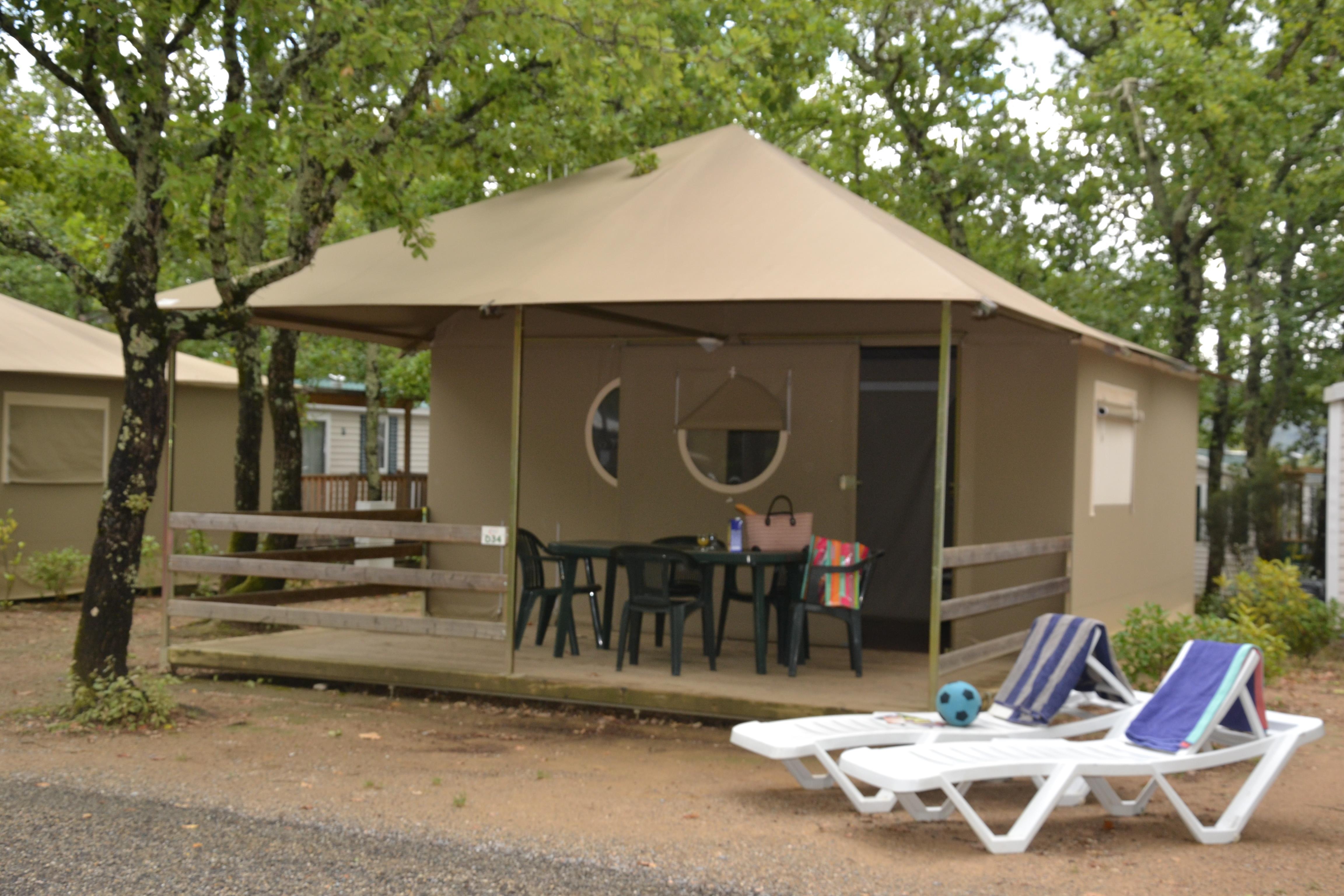 Location - Tente Lodge 2 Chambres - Camping Sunêlia Le Ranc Davaine