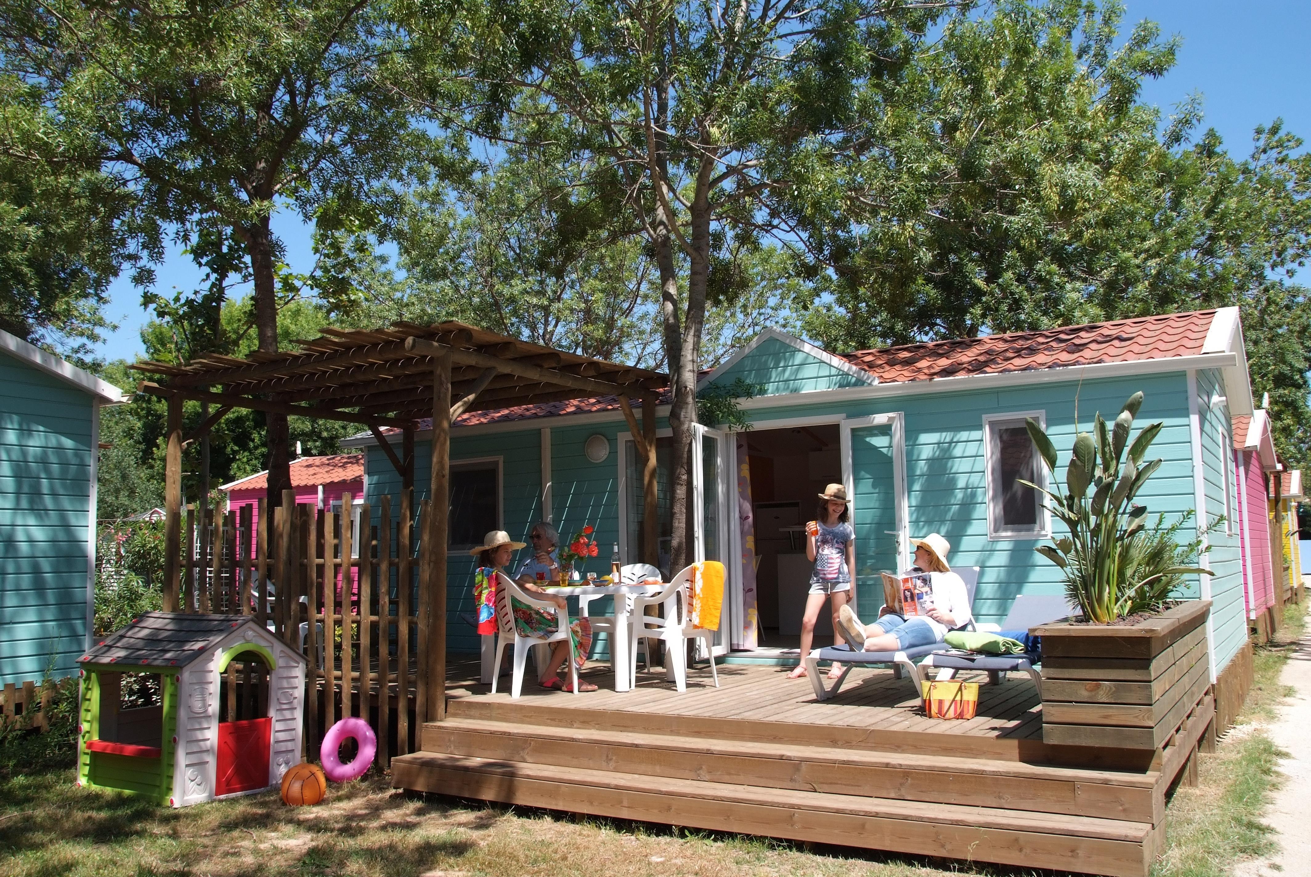 MOBIL-HOME FAMILY KIDS CLIMATISE : 2 Chambres 2 SDB (avec enfants de moins de 5 ans et 12 ans max)
