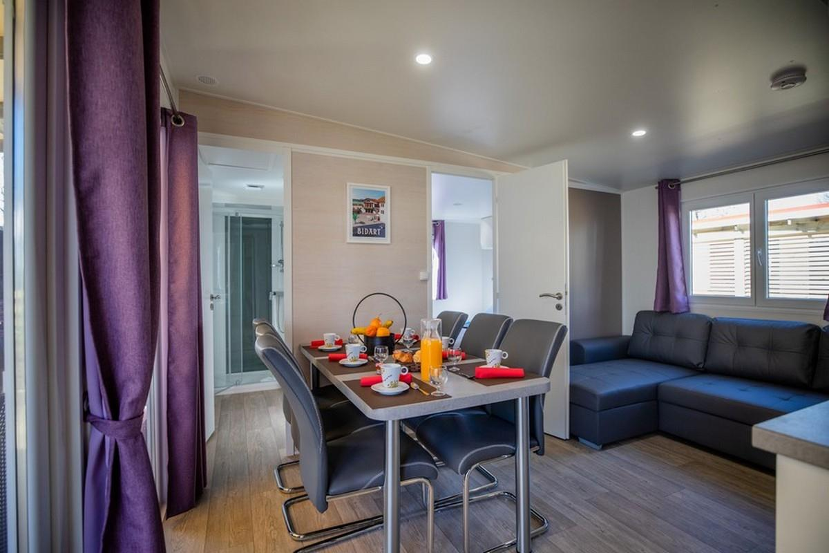 Accommodation - Sunêlia Sunluxe 3Ch 40M² - Located In The Sunluxe Pedestrian District (Air Conditioning - 3 Bedrooms - 1 Bathroom - Separate Toilet - Dishwasher - 2Tv - Hotel Package Included) - Village Camping Berrua