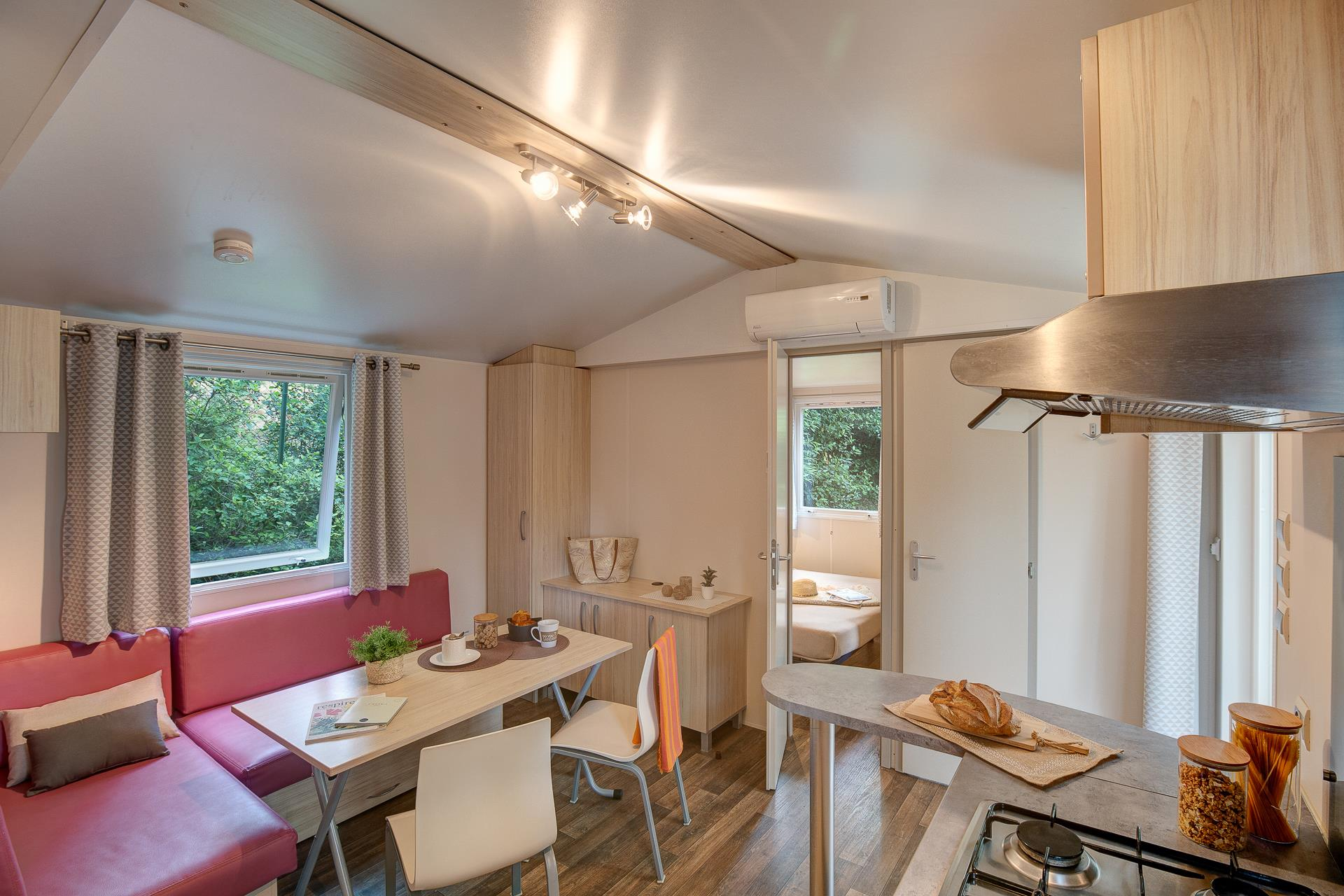Location - Cottage 2 Chambres Climatisé*** - Camping Sandaya Plein Air des Chênes