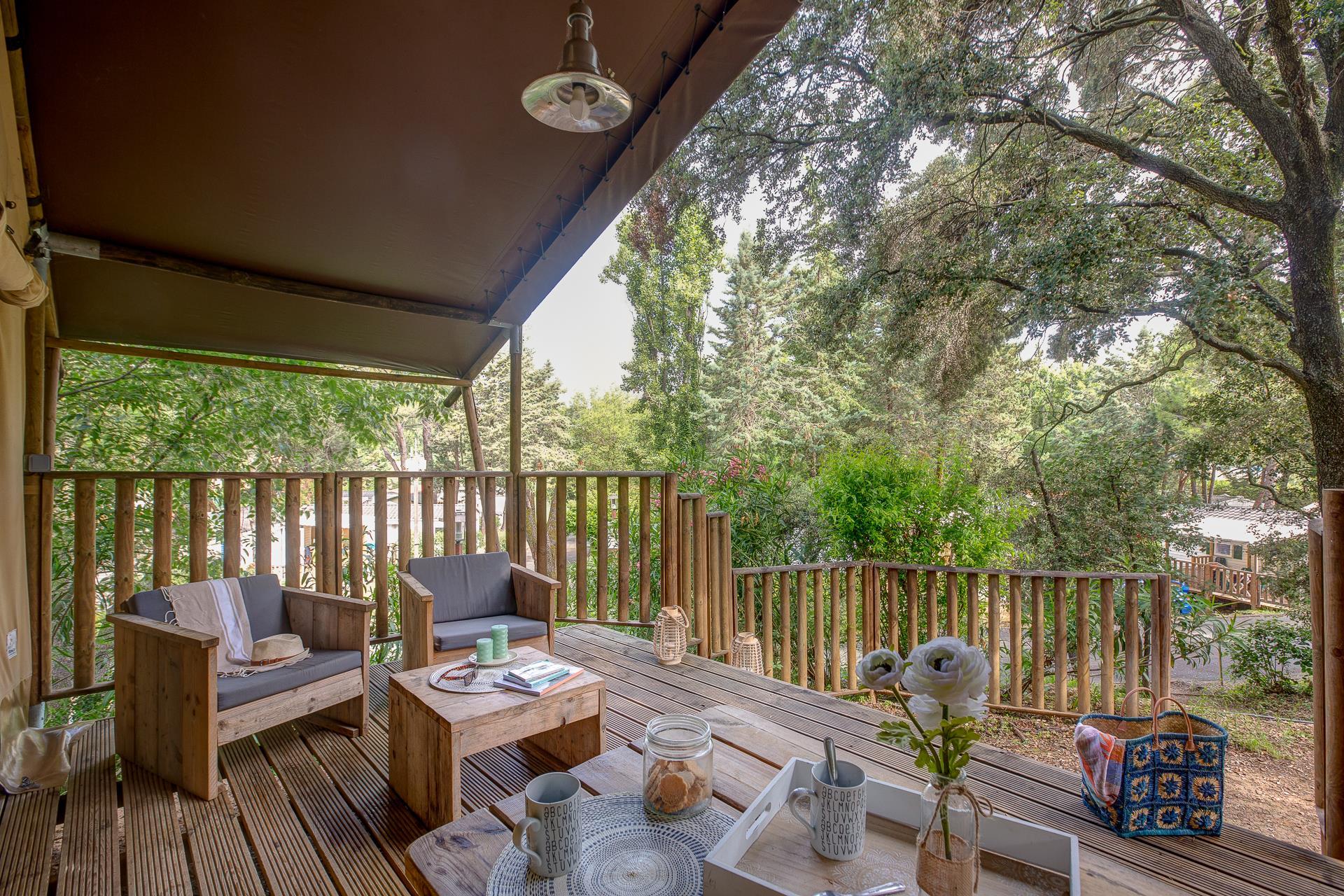Location - Lodge Safari 2 Chambres **** - Camping Sandaya Plein Air des Chênes