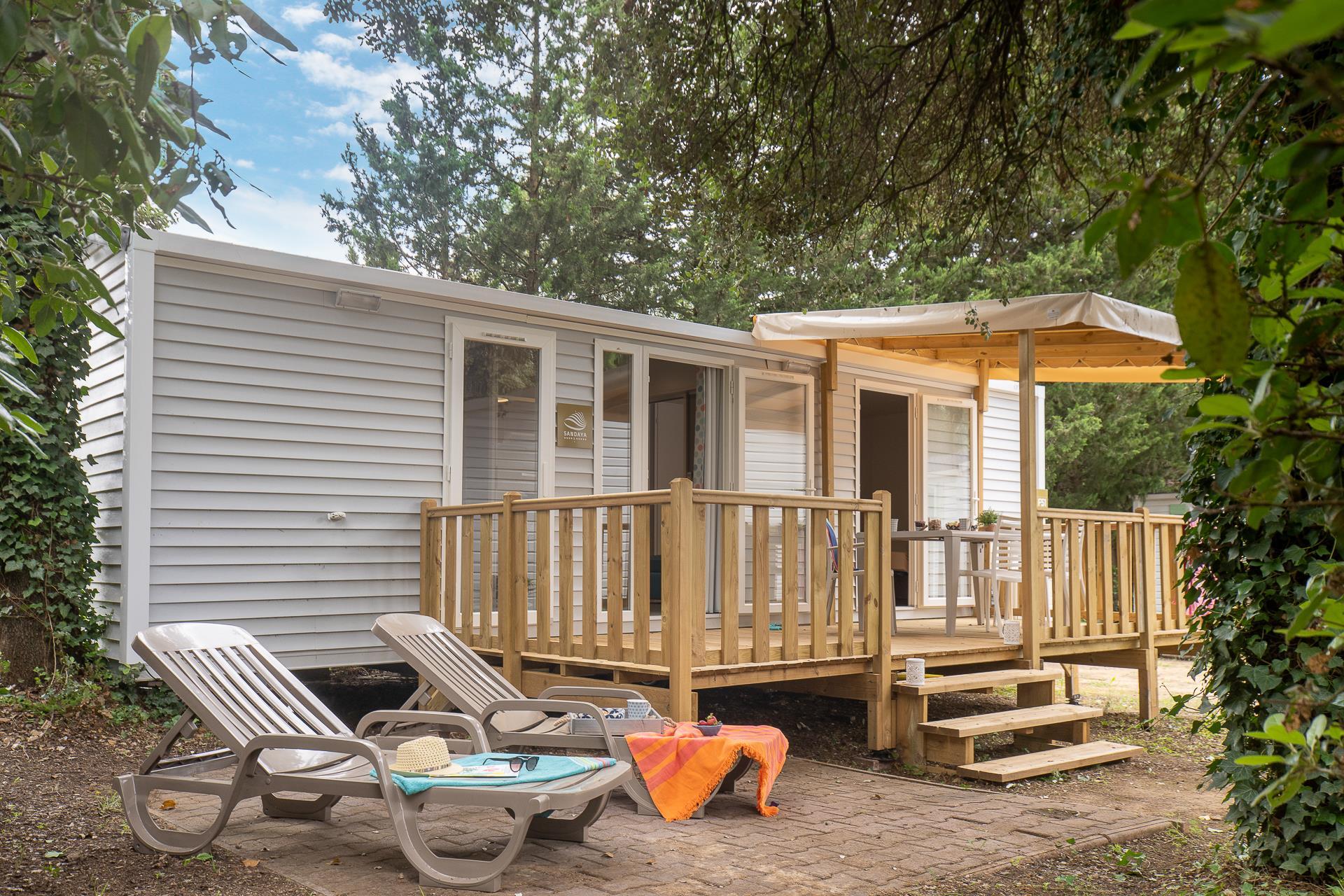 Location - Cottage 2 Chambres 2 Salles De Bain Climatisé**** - Camping Sandaya Plein Air des Chênes