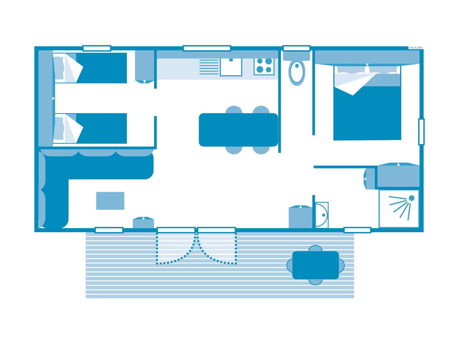 Cottage Esterel 2 chambres climatisé ***