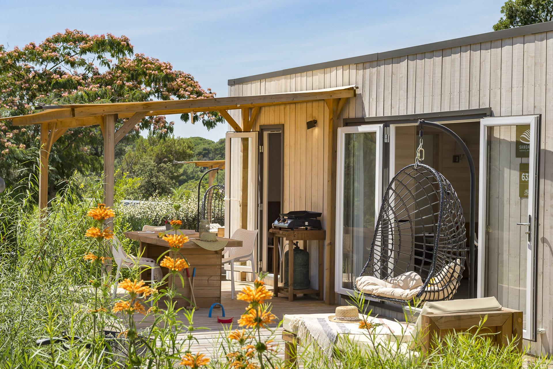 Location - Cottage 2 Chambres Climatisé Premium - Camping Sandaya Douce Quiétude