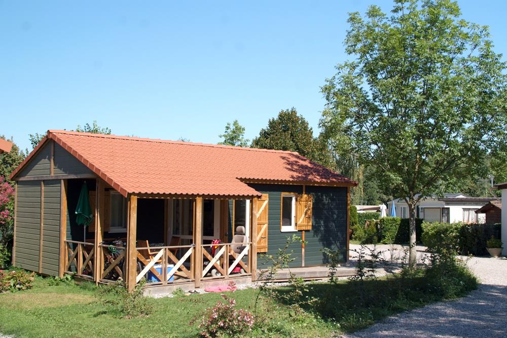 Location - Chalet 35 M² 2 Chambres Pmr   Terrasse - Camping Du Chatelet