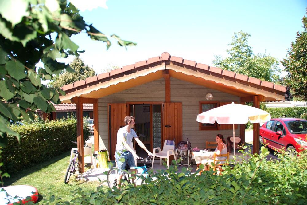 Location - Chalet 21 M²  1 Chambre + Terrasse Couverte - Camping Du Chatelet