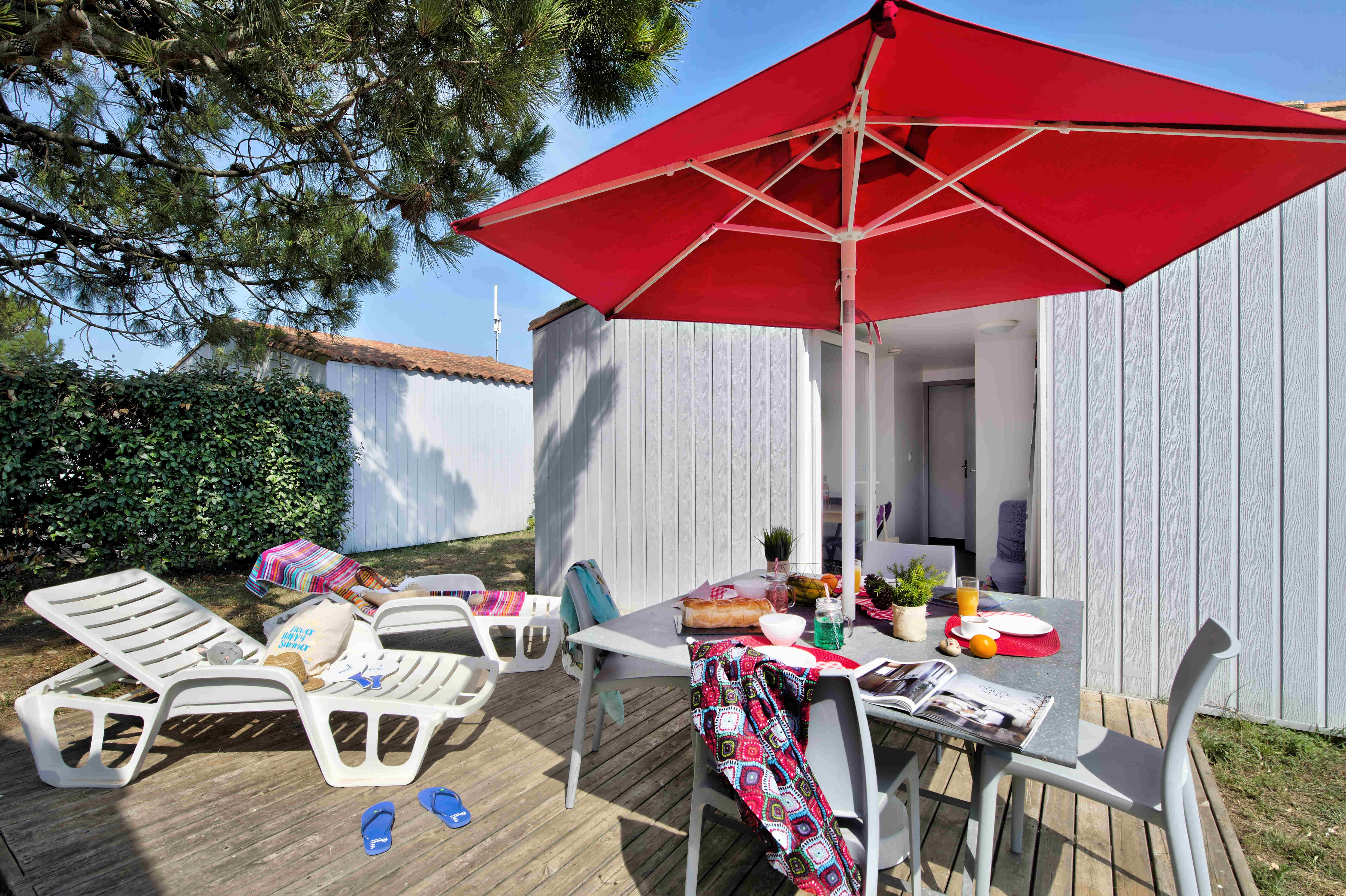 Maisonnette CONFORT  31m² (2 chambres) avec TV et terrasse
