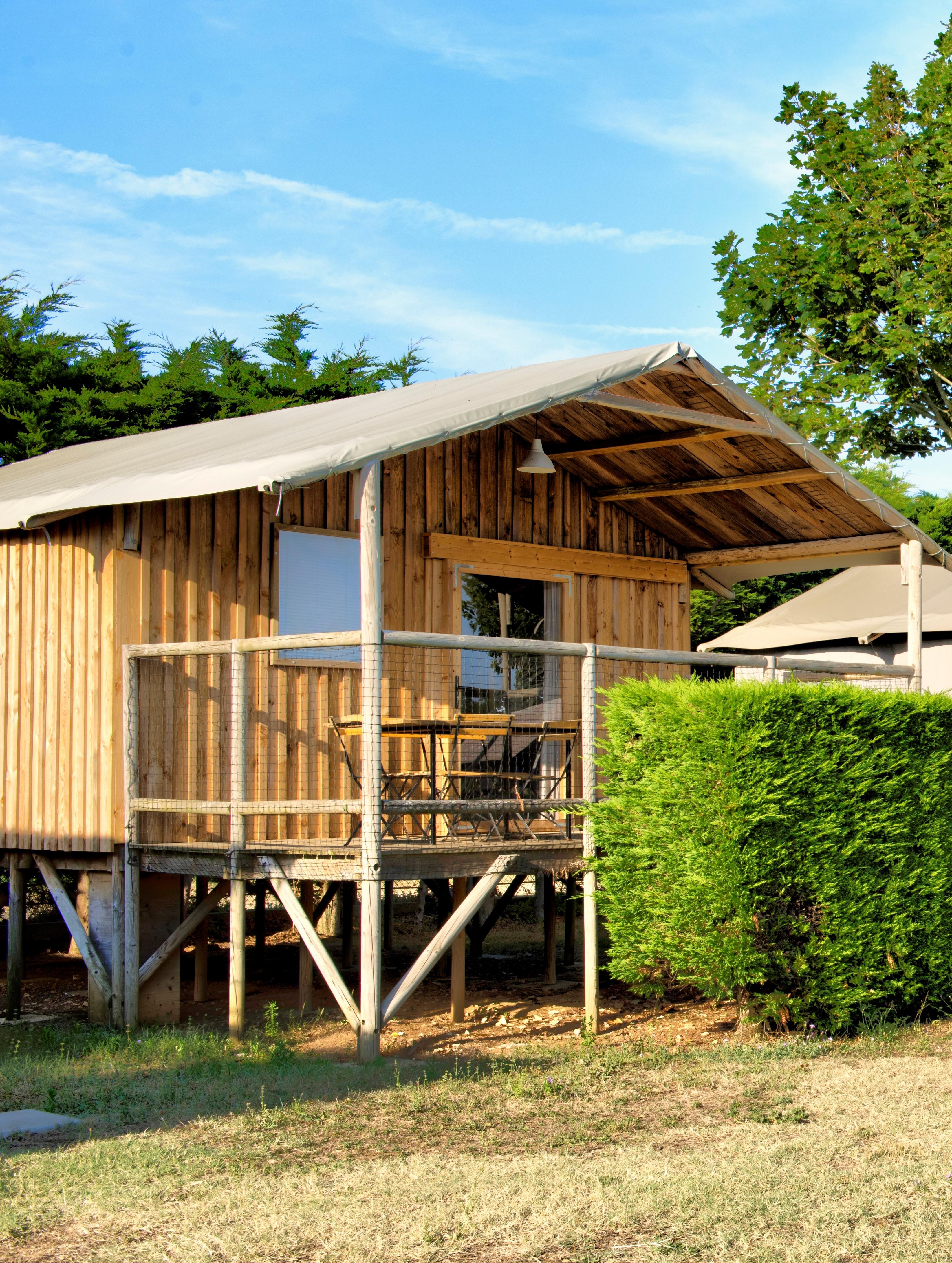 Location - Cabane Lodge Sur Pilotis Confort 34M² (2 Chambres) Tv Dont Terrasse Couverte 11M² - Camping Les Ilates