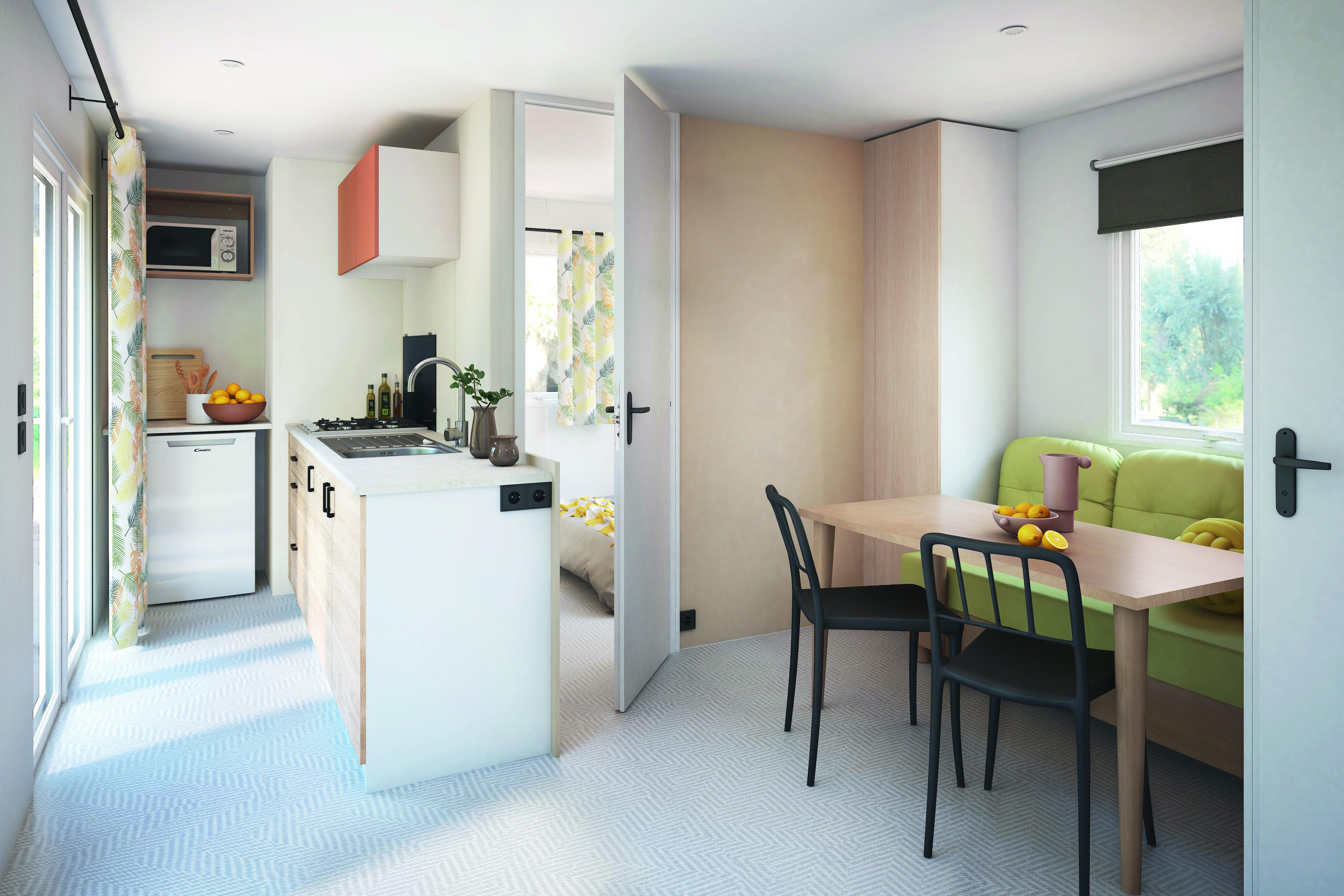 Mobil-home 4 Confort Plus - 25m² - 2 chambres + terrasse couverte