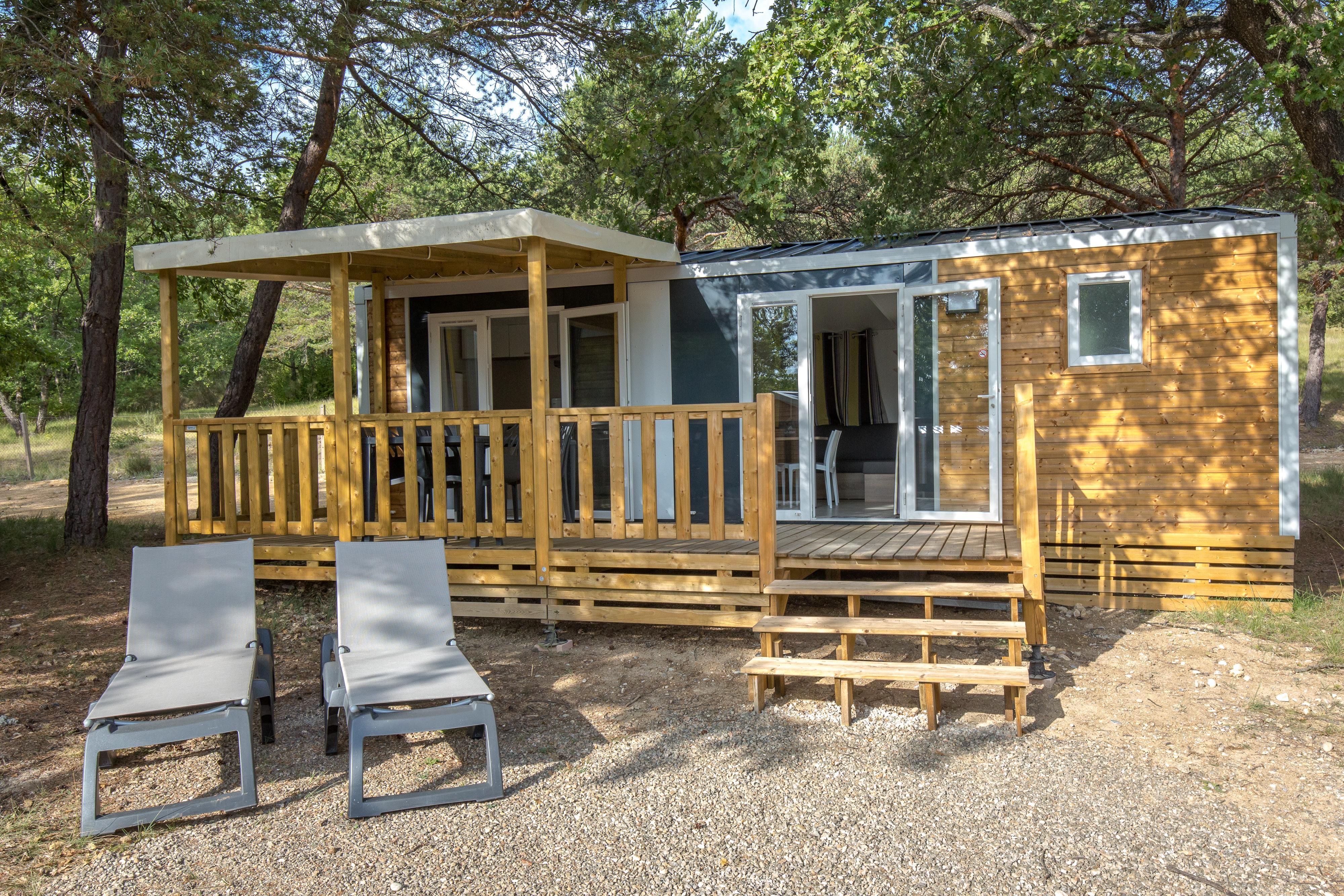 Location - Mobil Home Ciela Confort - 30M² - 2 Chambres - Climatisation Réversible Et Tv - Camping La Farigoulette