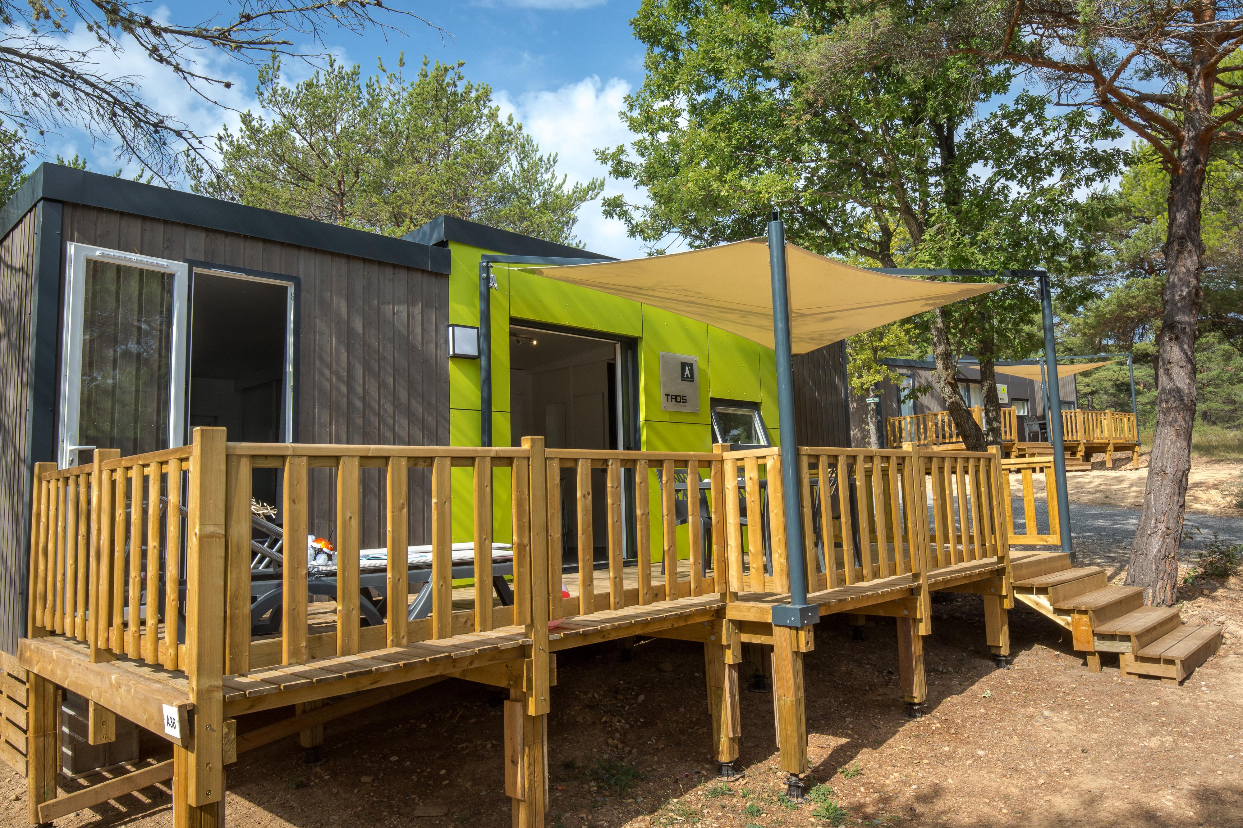 Location - Mobil Home Ciela Prestige - 35M² - 1 Suite Parentale- 2 Chambres- 2 Salles De Bain- Climatisation - Tv - Lave Vaisselle - Draps Inclus - Camping La Farigoulette