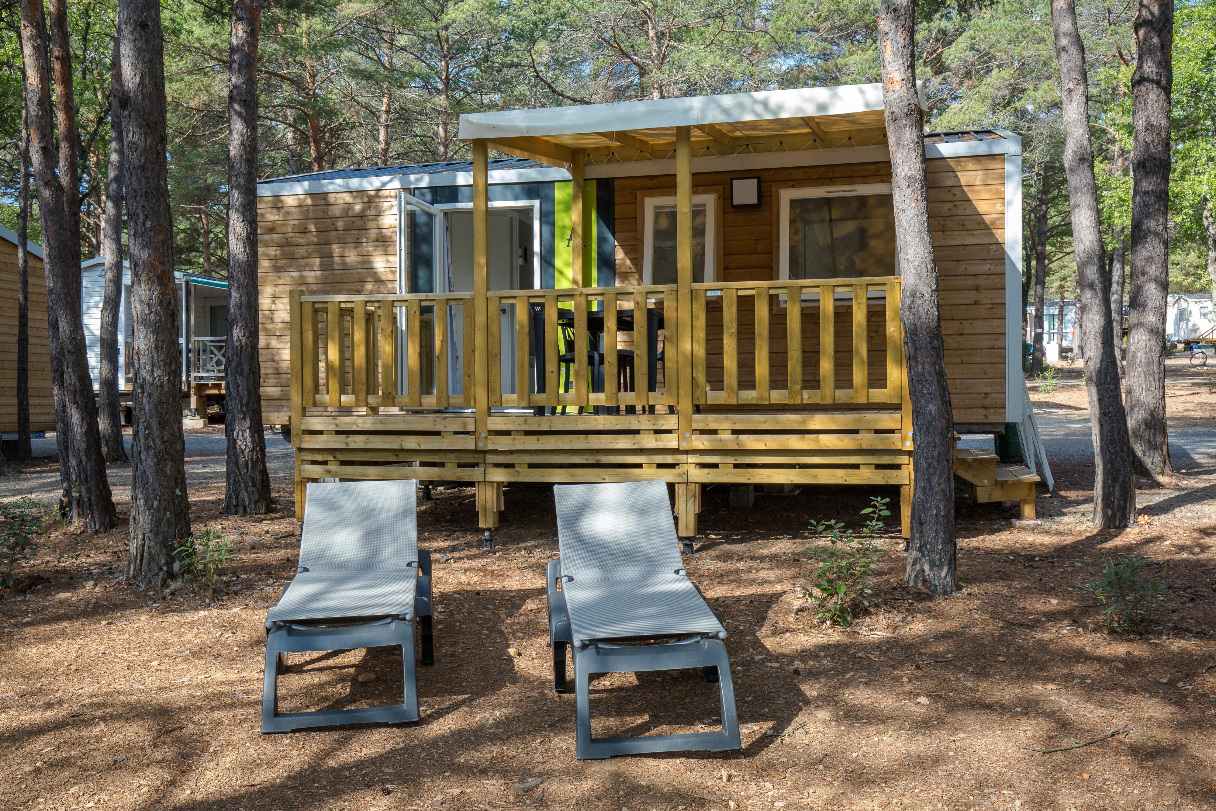 Location - Mobil Home Ciela Confort Compact - 27M² - 2 Chambres - Climatisation Réversible Et Tv - Camping La Farigoulette