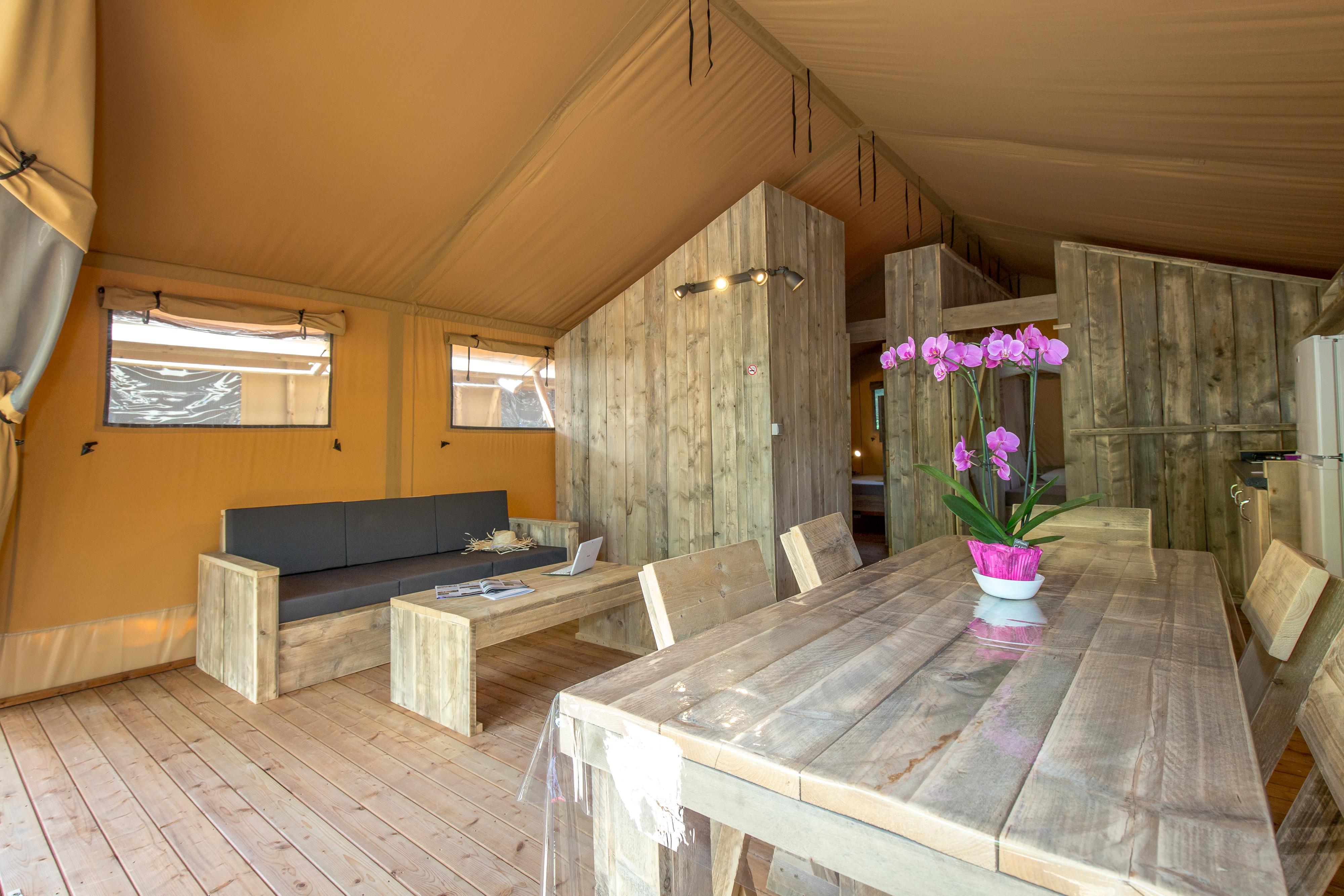 Location - Tente Ciela Nature Lodge - 60M² - 2 Chambres- - Salle De Bain - Camping La Farigoulette