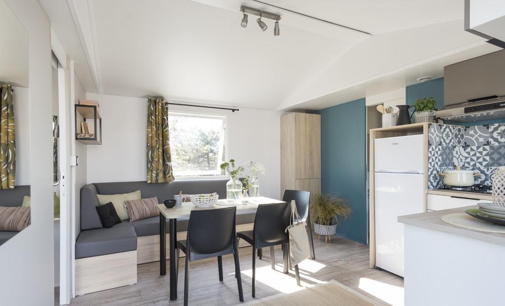 Location - Mobil Home Ciela Confort Luxe - 33M² - 2 Chambres / 2 Salles De Bain - Climatisation Réversible Et Tv - Lave Vaiselle - Camping La Farigoulette