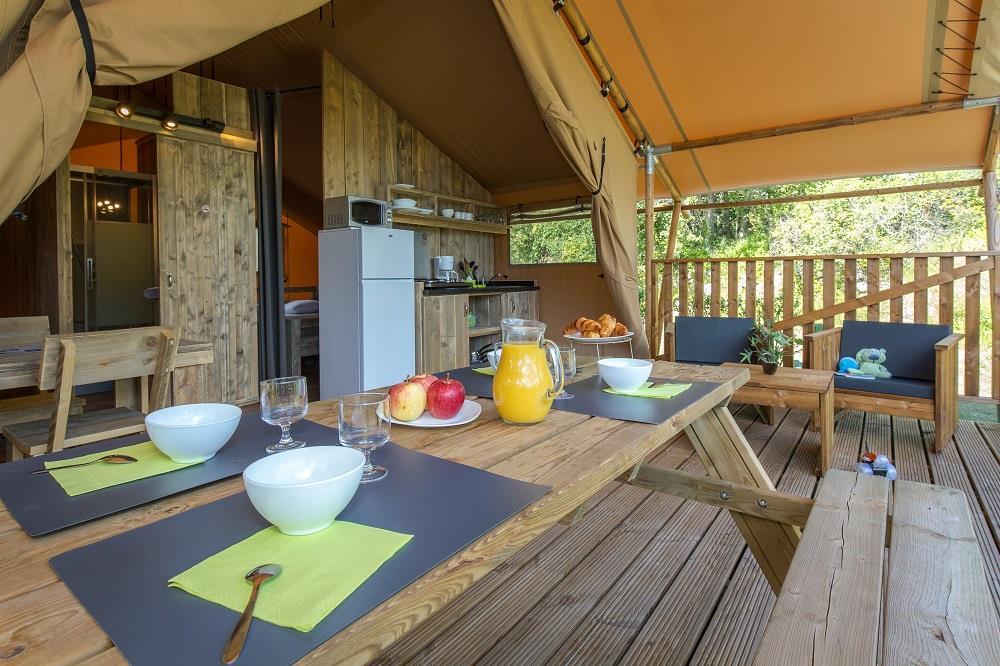 Location - Tente Ciela Nature Lodge - 40M² - 2 Chambres - Salle De Bain - Camping La Farigoulette