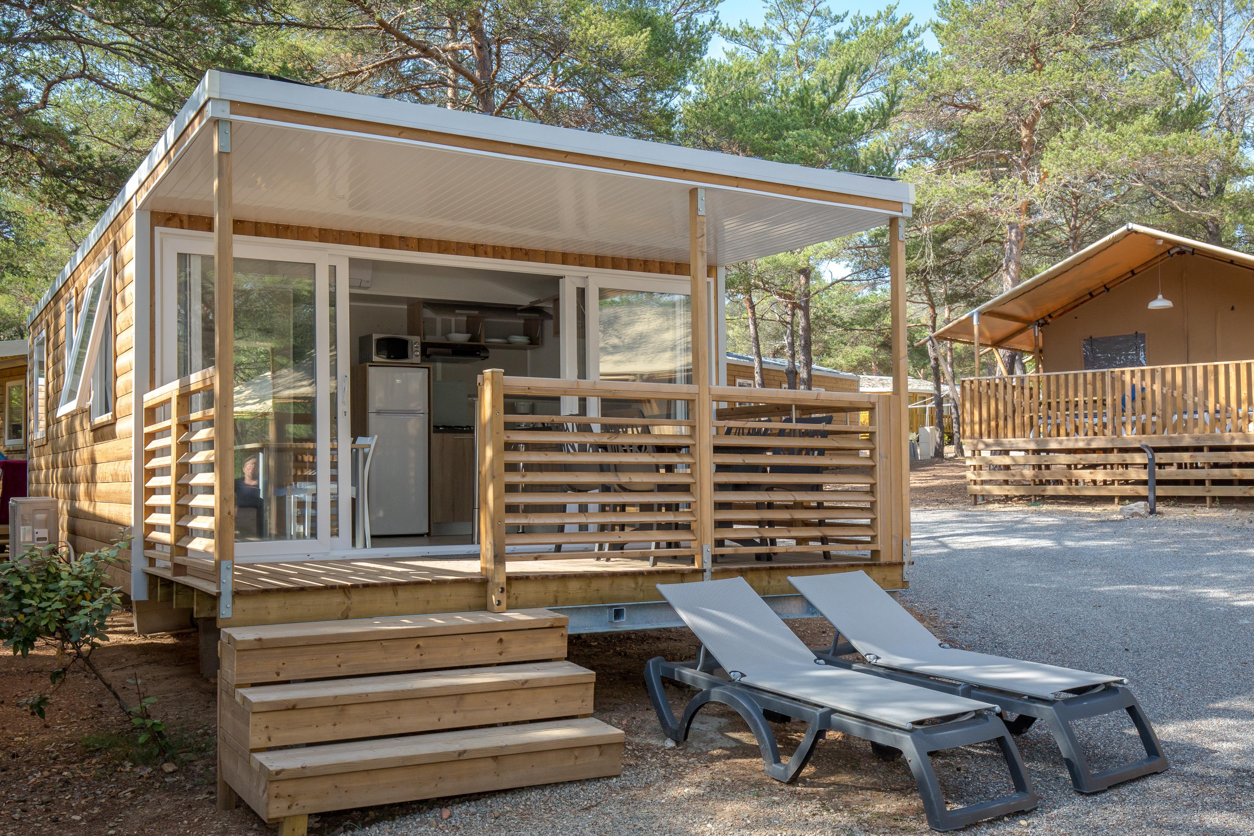 Location - Mobil Home Ciela Confort Bay - 26M² - 2 Chambres - Climatisation Réversible Et Tv - Camping La Farigoulette