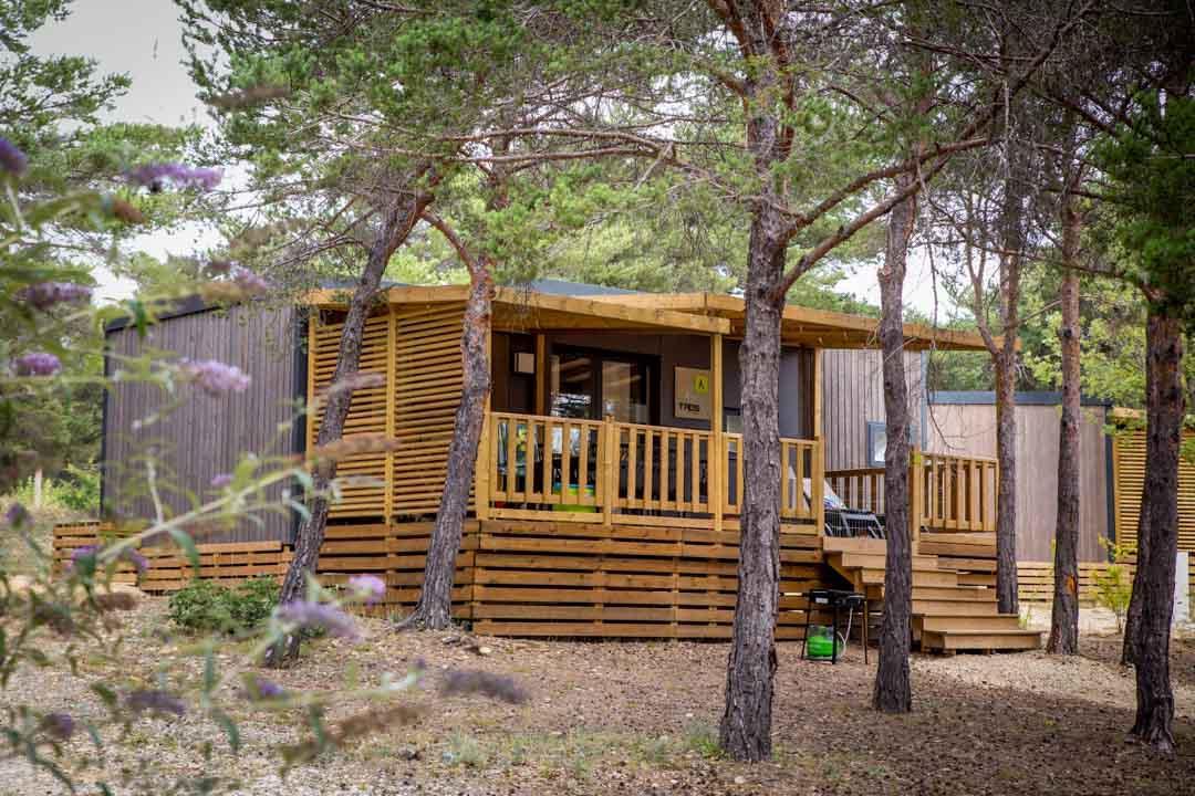 Location - Mobil Home Ciela Prestige - 38M² - 1 Suite Parentale- 2 Chambres- 2 Salles De Bain- Climatisation - Tv - Lave Vaisselle - Draps Inclus - Camping La Farigoulette
