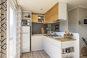 Location - Mobil Home Ciela Confort Luxe - 40M² - 3 Chambres / 2 Salles De Bain - Climatisation Réversible , Tv Et Lave Vaiselle. - Camping La Farigoulette