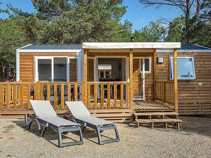 Location - Mobil Home Ciela Confort - 33M² - 3 Chambres - Climatisation Réversible Et Tv - Camping La Farigoulette