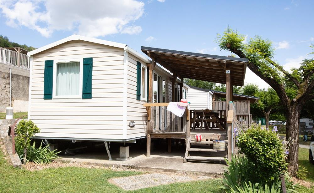 Accommodation - Mobile Home 'L'ardechoise' (28M² With Terrace) - Camping Le Castelet