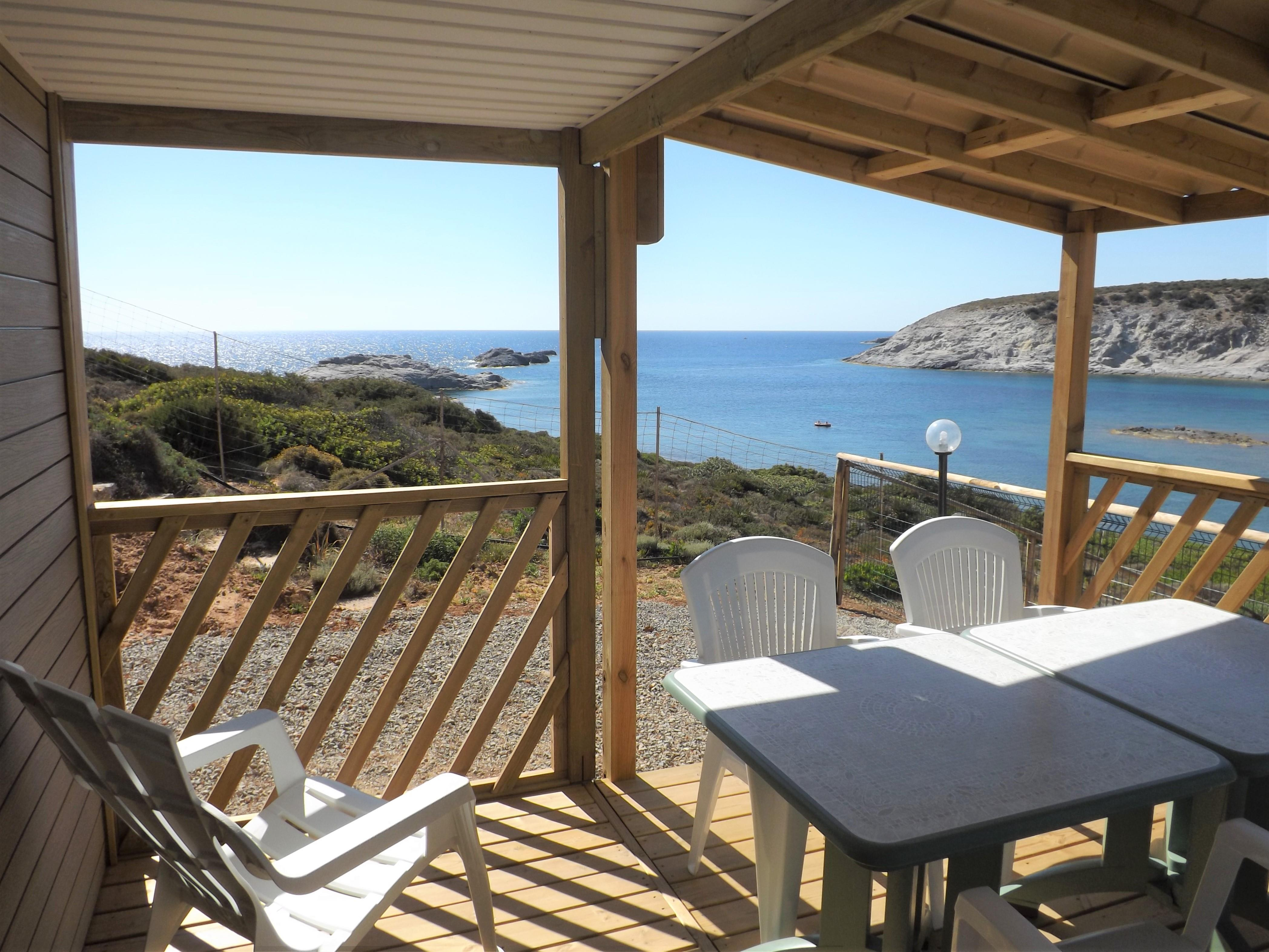 Location - Mobilehome Elba Avec Vue Sur La Mer - Camping Tonnara