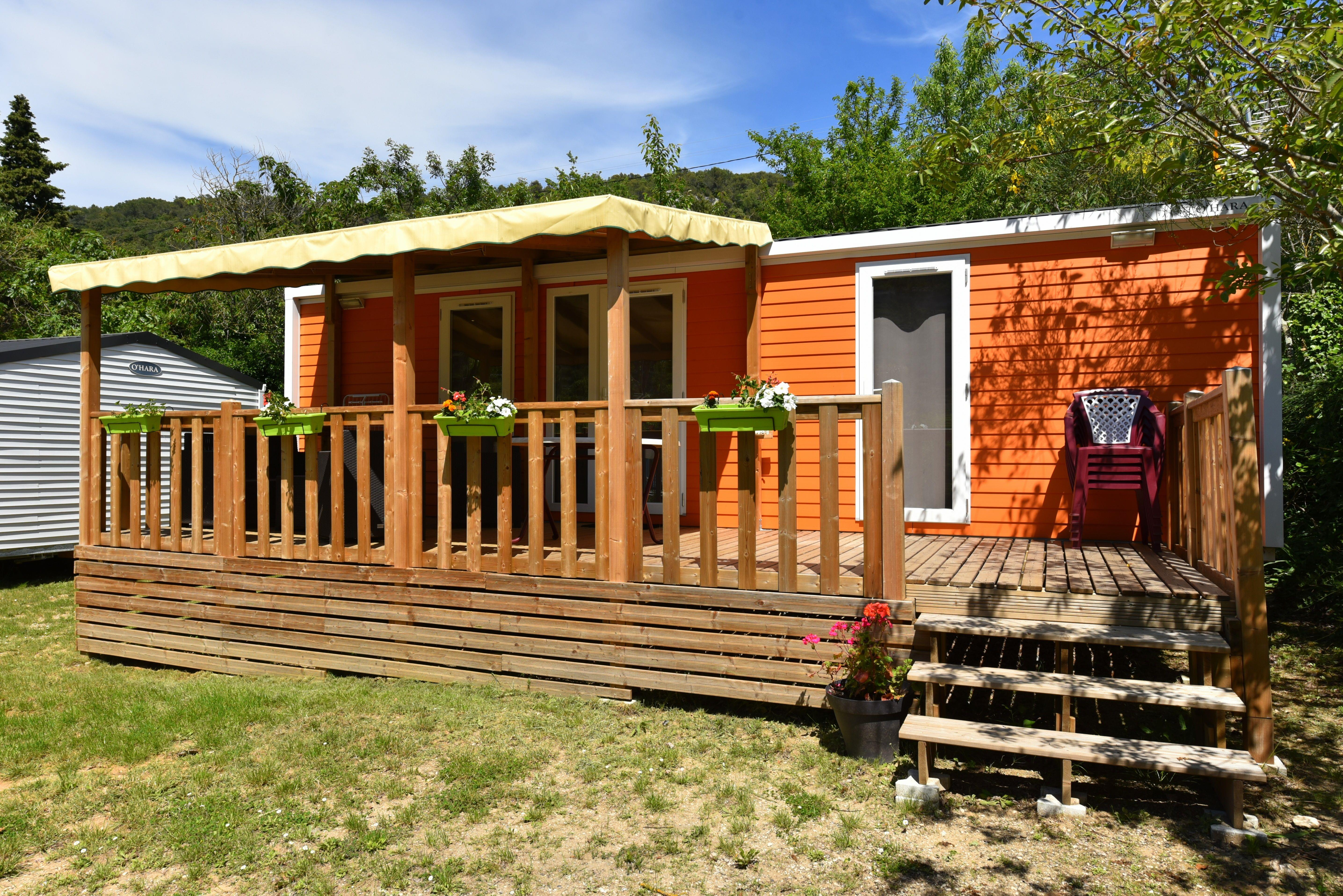Accommodation - Mobile Home Premium With Air Conditioned 2 Bedrooms, 2 Bathrooms, Tv, Dishwasher Saturday Till Saturday In High Season - Camping des Gorges