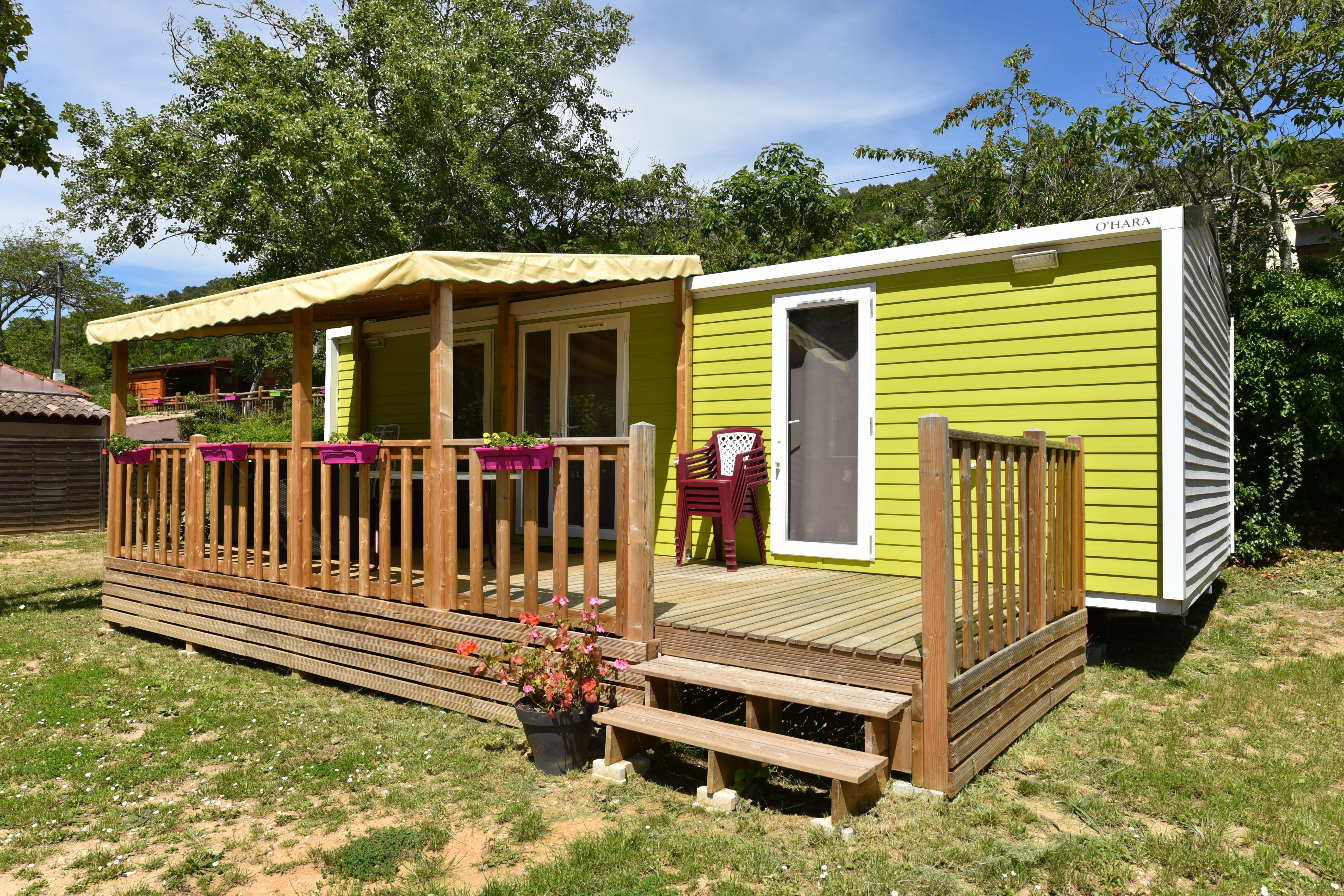 Accommodation - Mobile Home Premium 2 Bedrooms, With Air Conditionned 2 Bathrooms, Tv, Dishwasher (Sunday Till Sunday (In High Season) - Camping des Gorges