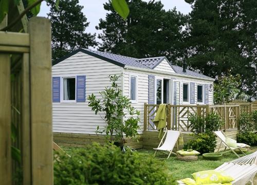Mobil-home LOUISIANE OCEANE terrasse,  frais de réservation inclus.