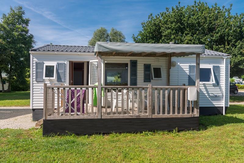 Location - Mobil-Home Eco 32M² / 3 Chambres + Terrasse Semi Couverte  (2002) - Camping de Mesqueau