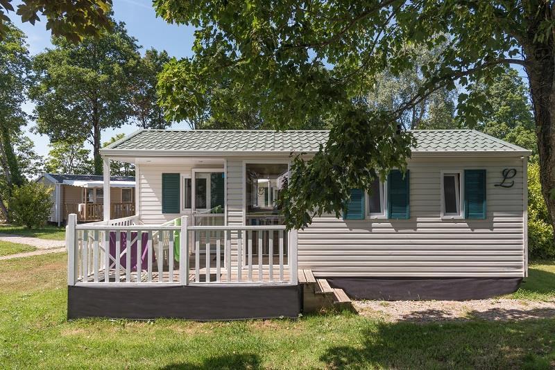 Location - Mobil-Home Eco Classic 27M² / 2 Chambres + Terrasse Intégrée Semi-Couverte (2004) - Camping de Mesqueau