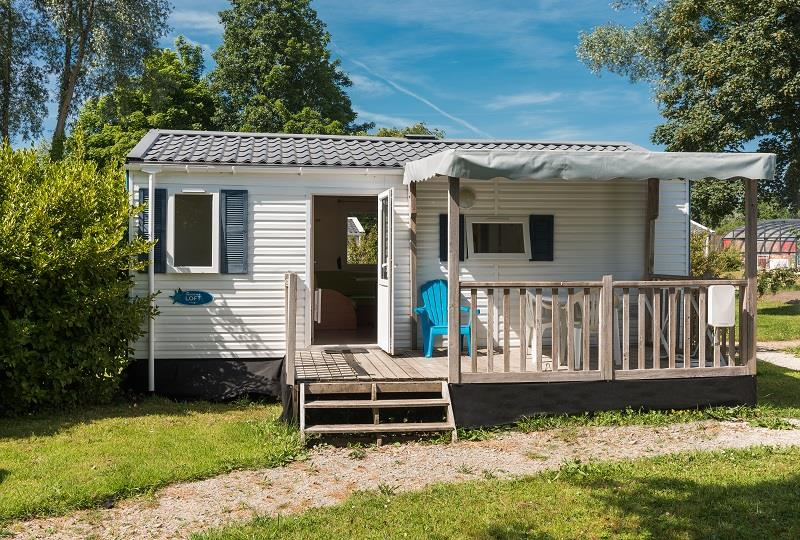 Location - Mobil-Home Eco 27M² / 2 Chambres + Terrasse Couverte (2002) - Camping de Mesqueau
