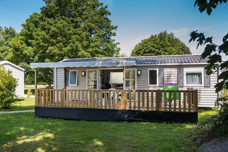 Location - Mobile-Home Premium 39M² / 3 Chambres / 2 Salles De Bains + Terrasse Semi Couverte (2017) + Tv - Camping de Mesqueau
