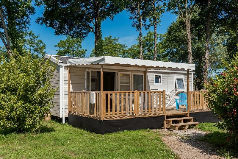 Location - Mobil-Home Family 35M² / 3 Chambres + Terrasse Semi Couverte (2017) + Tv - Camping de Mesqueau