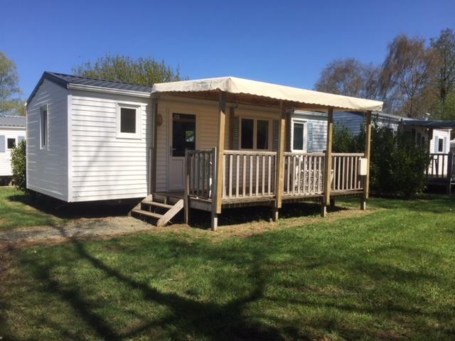Location - Mobil-Home Eco 27M² / 2 Chambres + Terrasse Couverte (2000) - Camping de Mesqueau