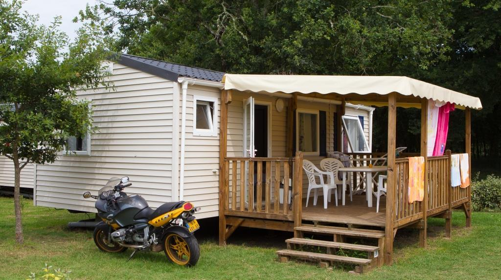 Location - Mobil Home Confort 4/6 Personnes - Camping Landes Bleues
