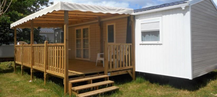 Location - Mobil Home Grand Confort 6 Personnes Avec Climatisation - Camping Landes Bleues