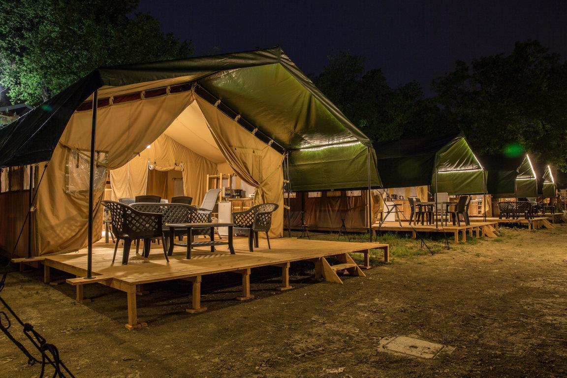 Tenda Safari con bagno privato